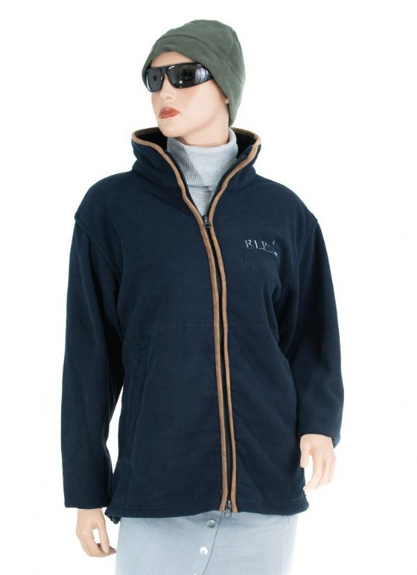 RJ Polo Fleece Jacket in Navy